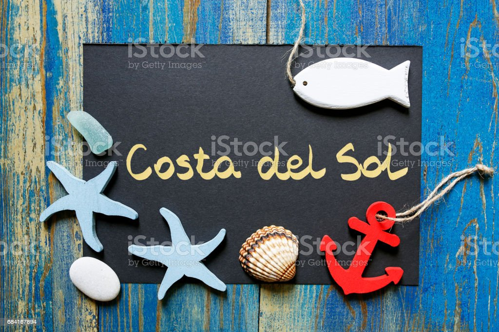 postcard from Costa del Sol, Spain foto stock royalty-free