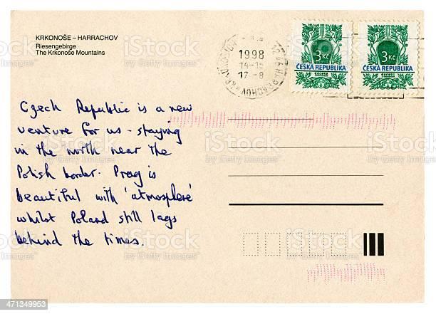 Postcard from Czech Republic, 1998