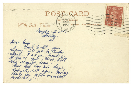 Postcard from Douglas, Isle of Man, 1953