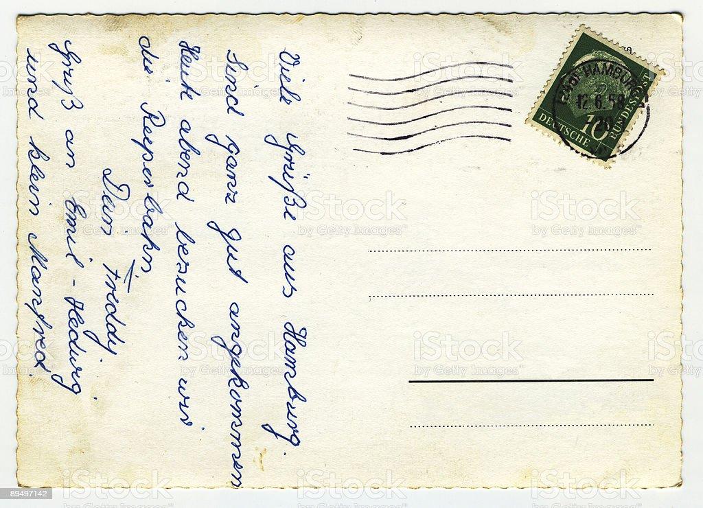 Kartka pocztowa z Hamburga zbiór zdjęć royalty-free