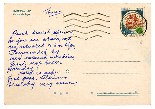 Postcard from Italy, 1988