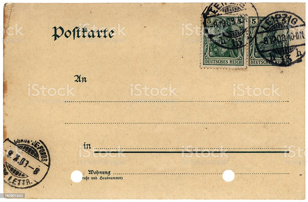 Postcard from Leipzig 1903 royalty-free stock photo
