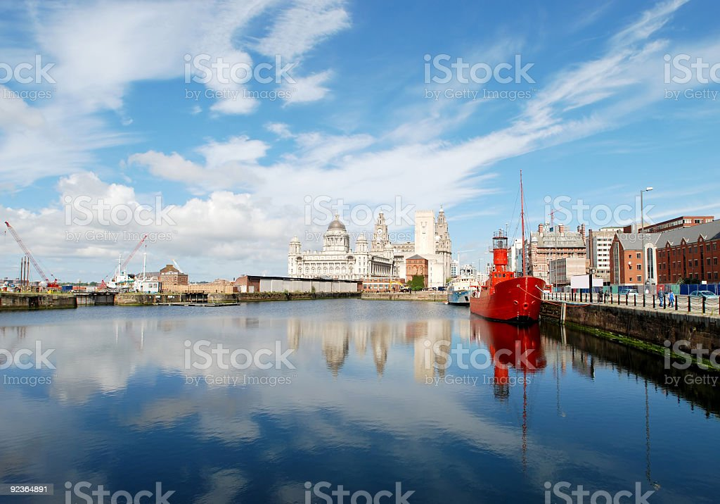 Postcard from Liverpool - Landscape royalty-free stock photo