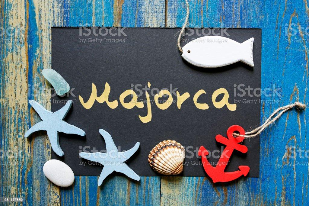 postcard from Majorca, Spain zbiór zdjęć royalty-free