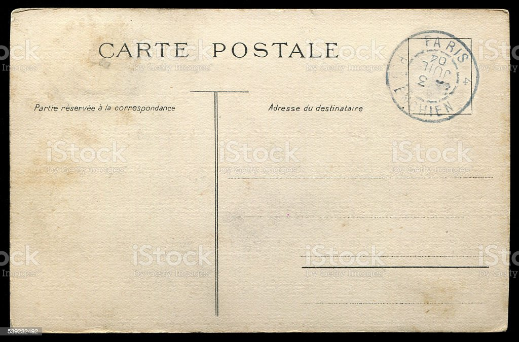 postcard from Paris royalty-free stock photo