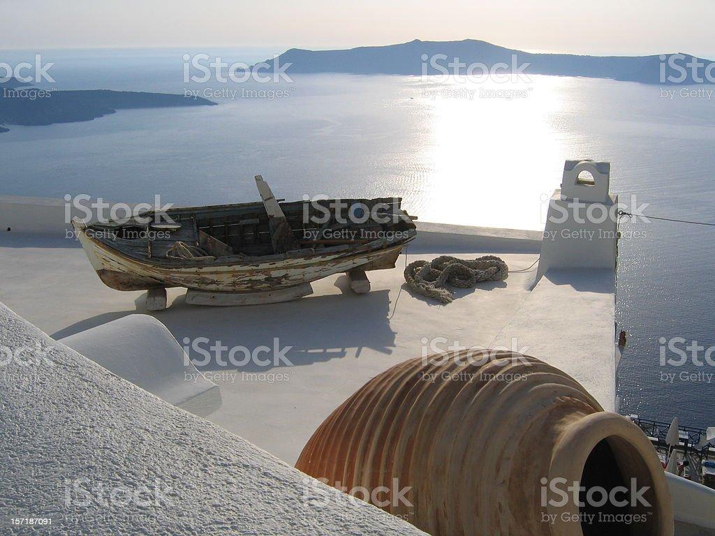 Postcard from Santorini royalty-free stock photo