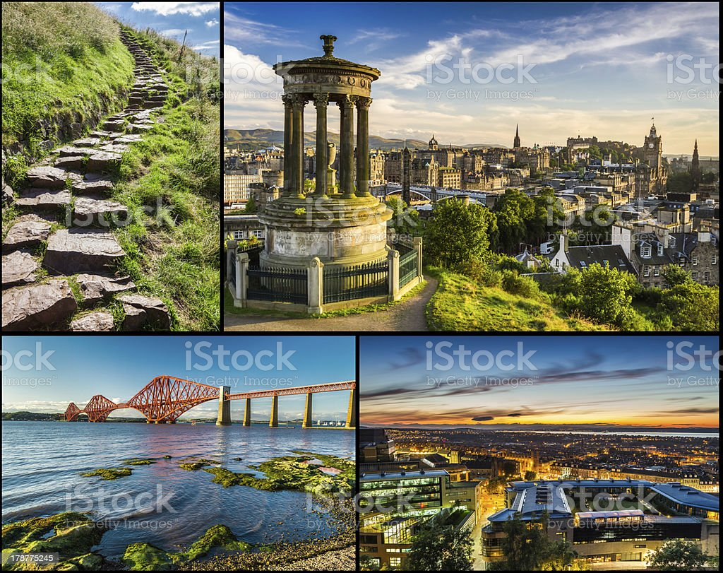 Postcard from sunny Scotland in summer stock photo