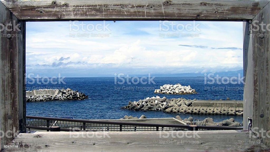 Postkarte aus dem Meer Lizenzfreies stock-foto