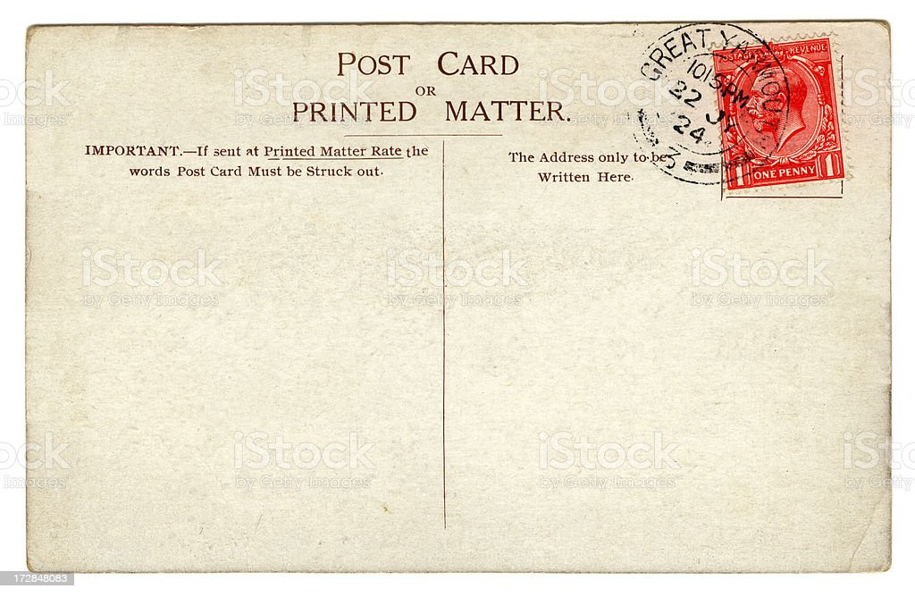 Postcard: George V July 1924 stock photo