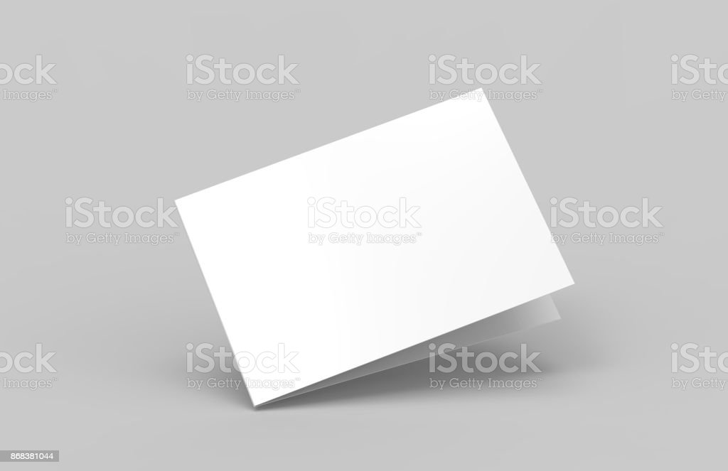 Postcard Invitation Greeting Card Mock-Up stock photo