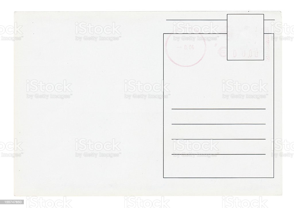 Postcard Isolated royalty-free stock photo