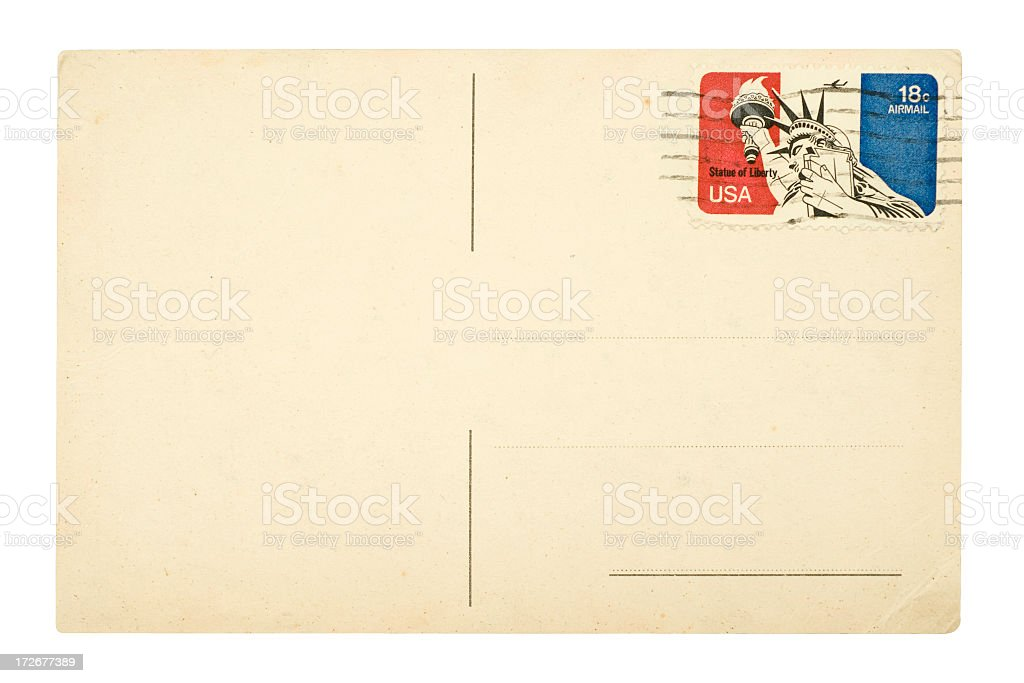 USA postcard stock photo