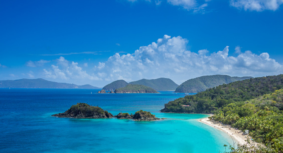 Postcard View From Us Virgin Islands 0명에 대한 스톡 사진 및 기타 이미지