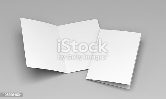 postcard white template 3D