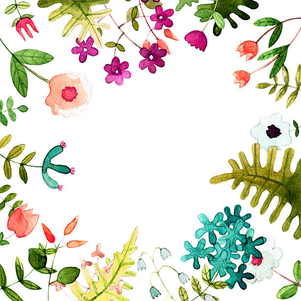 Postkarte mit einem Schmuckstück des Aquarell Frühling Blumen. – Foto