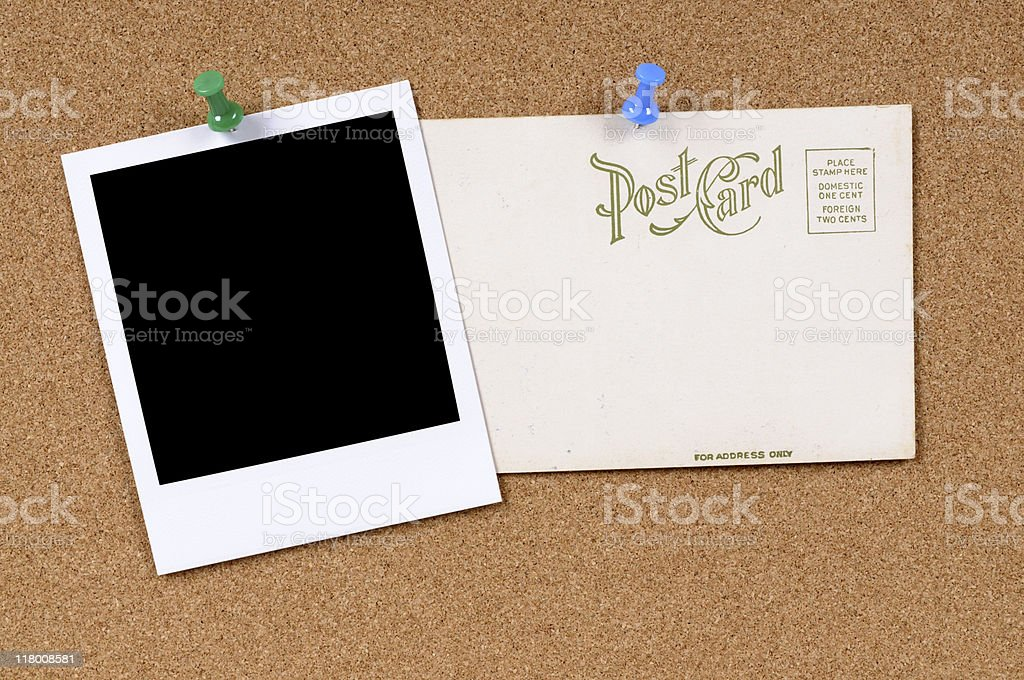 Postcard with blank photo royalty-free stock photo
