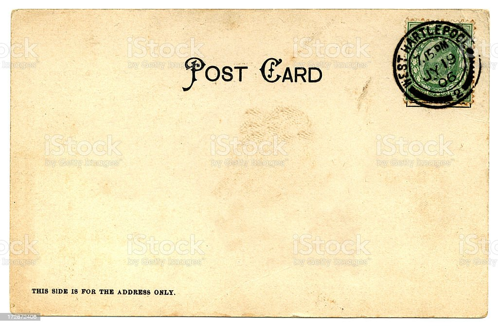 Postcard with inverted stamp: Edward VII July 1906 royalty-free stock photo