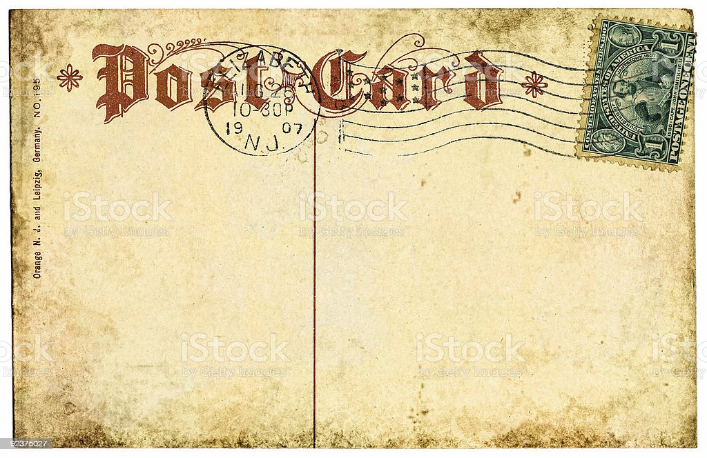 Postcard with Jamestown Stamp royalty-free stock photo