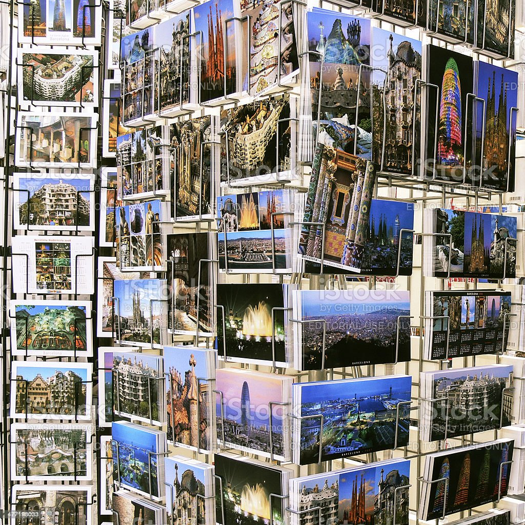 Postcards from Barcelona royalty-free stock photo
