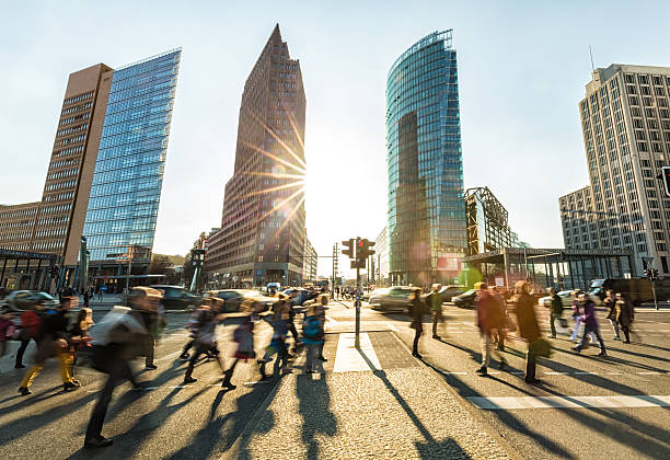 Postdamer Platz in Berlin stock photo