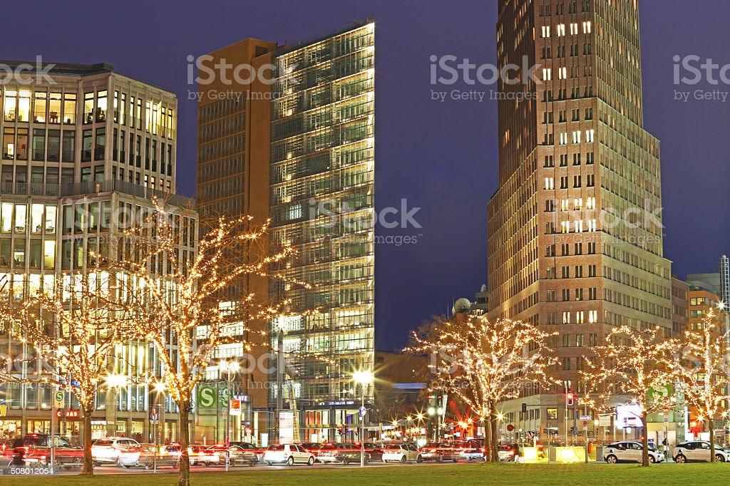 Postdamer Platz in Berlin stock photo