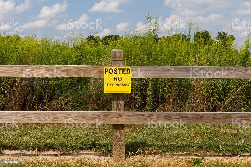 Veröffentlicht keine Unbefugtes Betreten ländlichen Umgebung – Foto