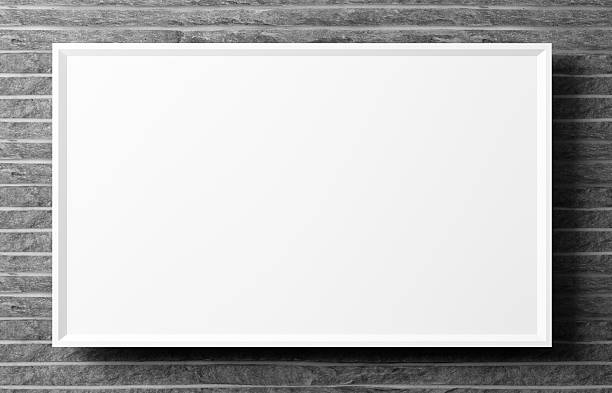 póster contra de pared de piedra fondo 3d imagen - pizarra blanca fotografías e imágenes de stock
