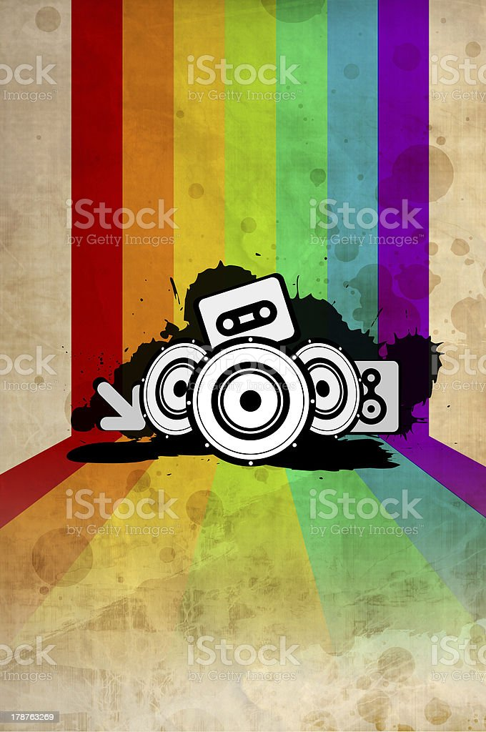 Poster background - 80's style disco royalty-free stock photo