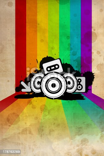 istock Poster background - 80's style disco 178763269