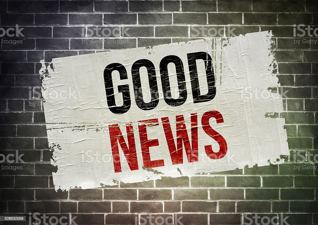 GOOD NEWS - poster concept stock photo