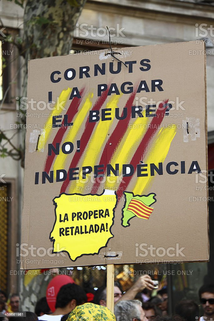 Poster for Independence of Catalonia royalty-free stock photo