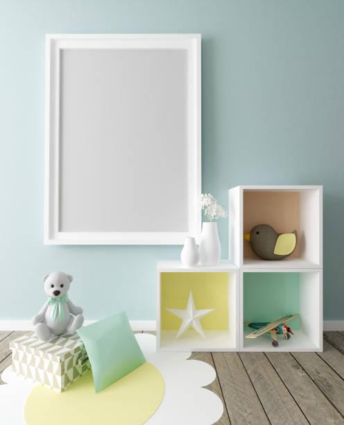 Poster Frame in Chil's Interior stock photo