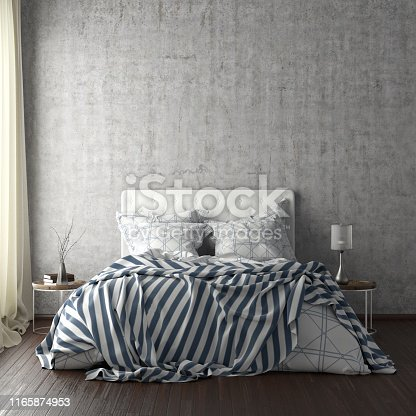 924294300istockphoto poster frame mockups above the bed on the wall in bedroom 1165874953