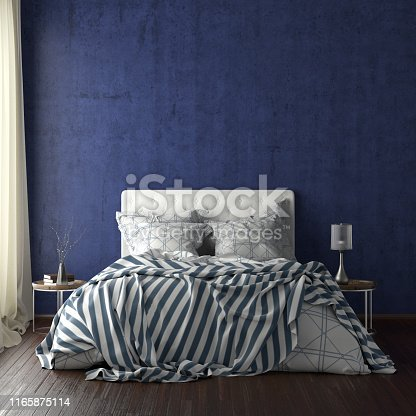 924294300istockphoto poster frame mockups above the bed on the wall in bedroom 1165875114