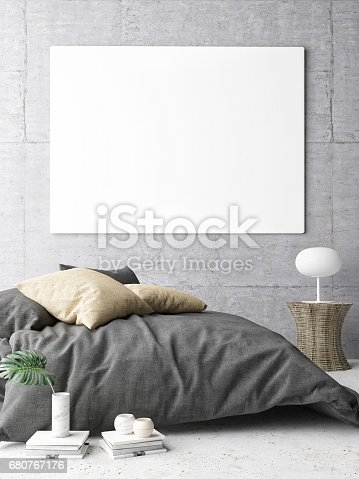 istock Poster in hipster Bedroom 680767176