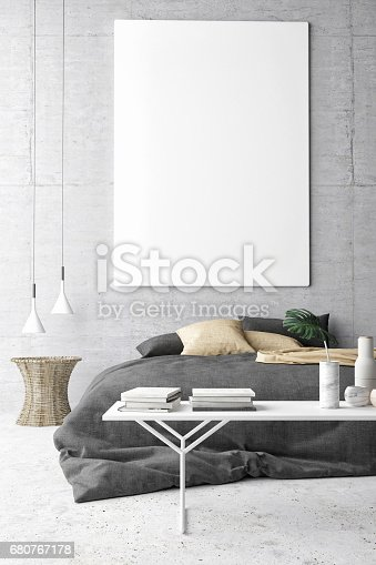 istock Poster in hipster Bedroom 680767178