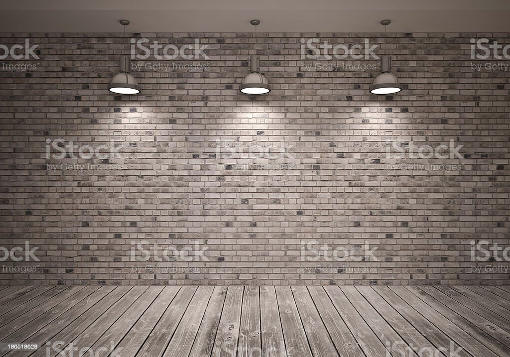 Poster in room royalty-free stock photo