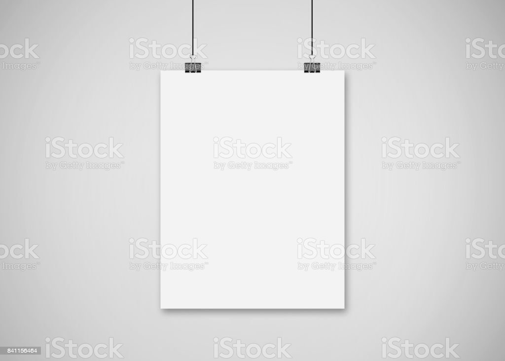 Poster Mock Up royalty-free stock photo