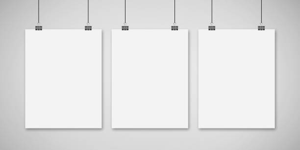 mock up poster - klapprahmen stock-fotos und bilder