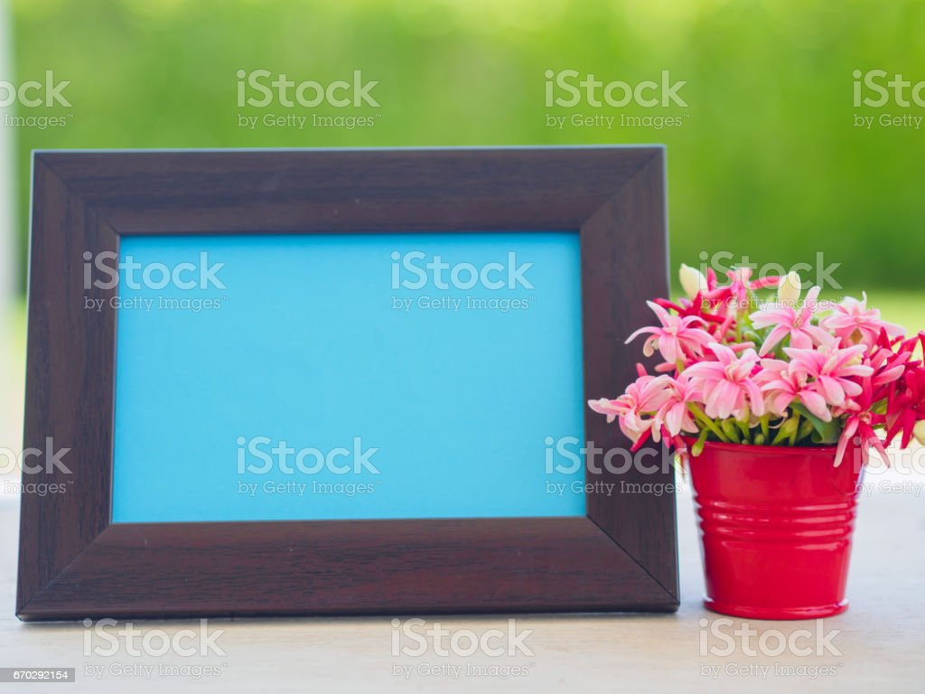 Poster Mock Up Template With Flower Bouquet Marshmallow In The Shape ...