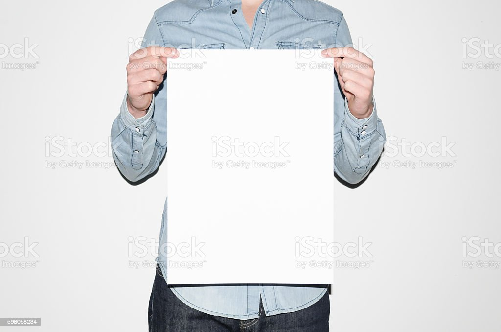 A3 Poster Mock-Up stock photo