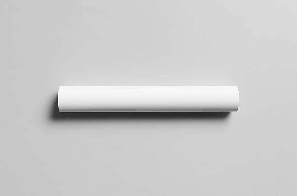 a3 poster mock-up - rolled - papierrollen stock-fotos und bilder