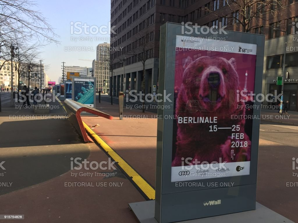 Poster of 68th Berlinale Film Festival stock photo