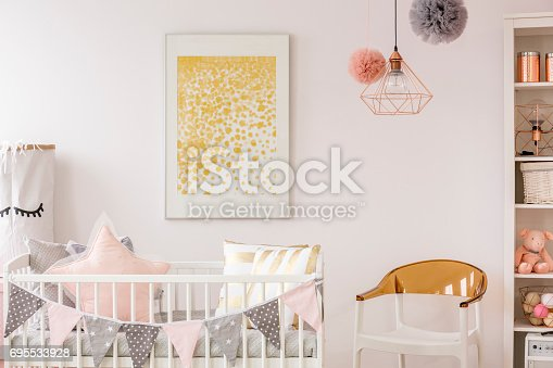 istock Poster on the white wall 695533928