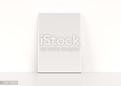 blank, mockup, poster, 3d rendering