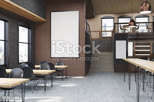 istock Poster room in cafe 623911350