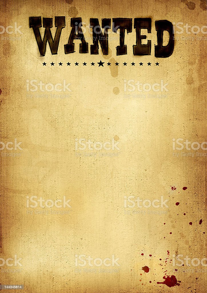 poster wanted stock photo