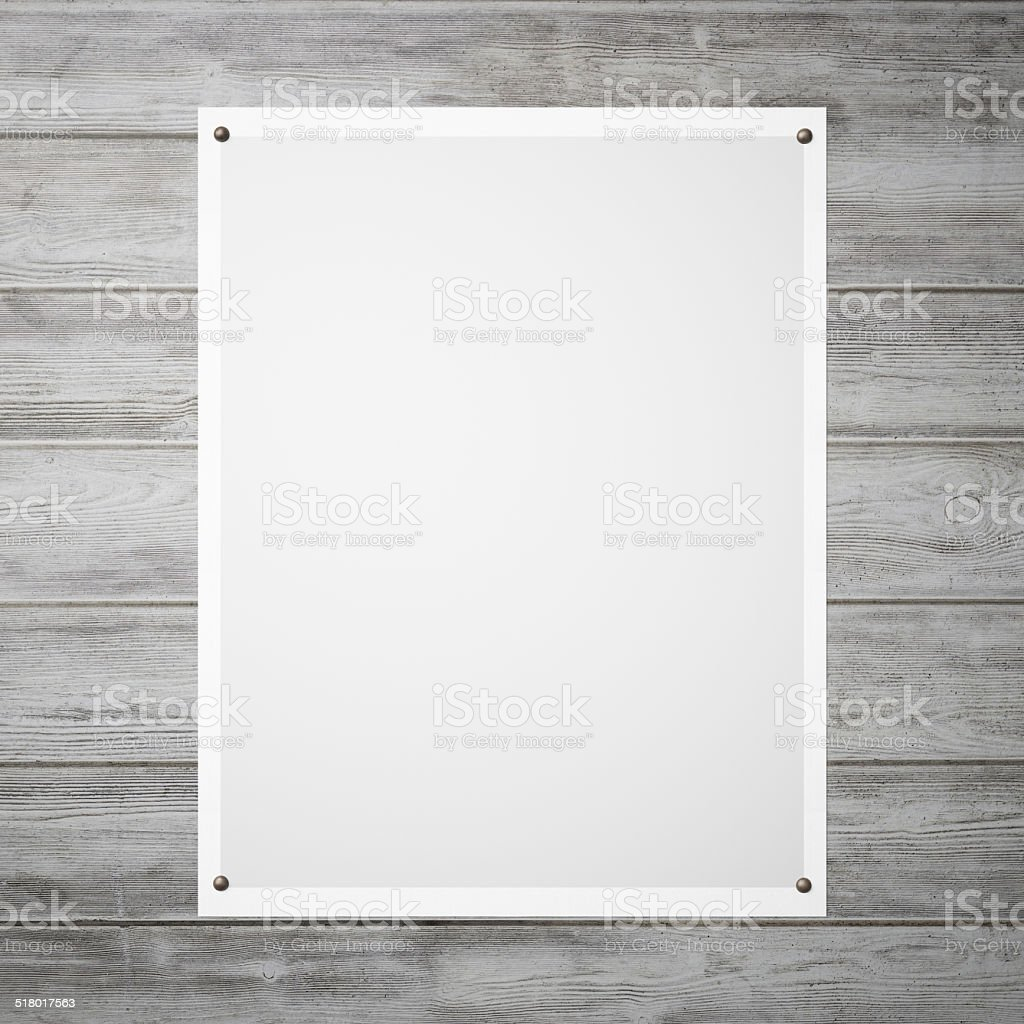 Poster with a grey gradient on the wall stock photo
