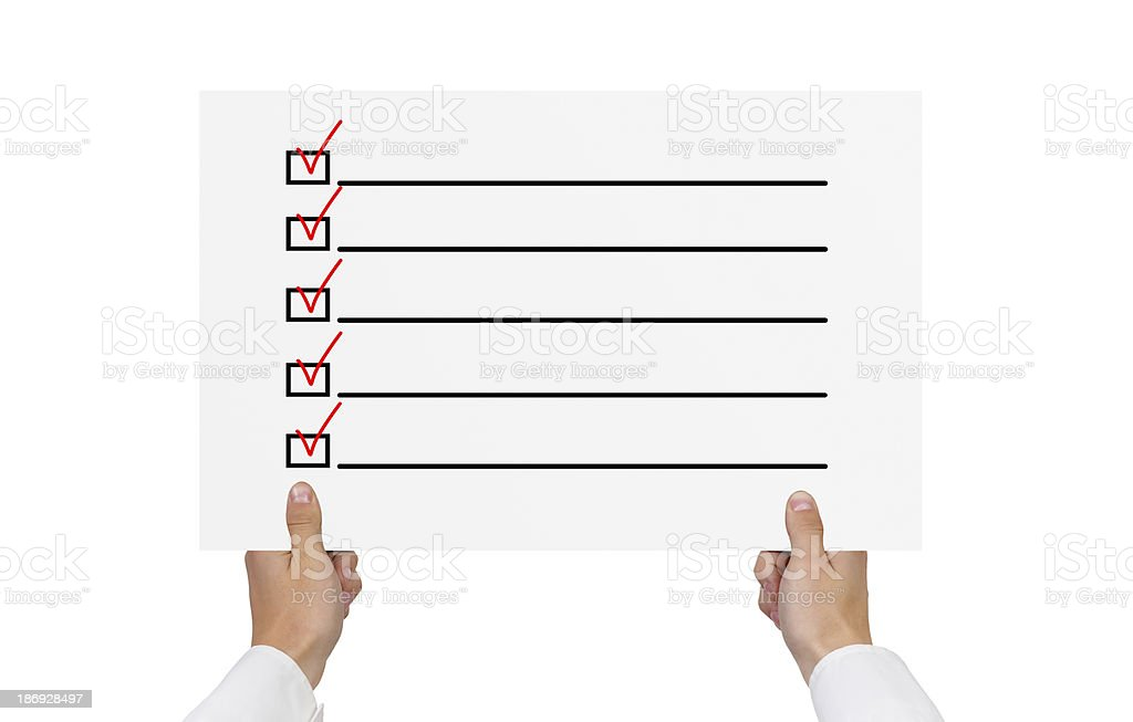 poster with check box royalty-free stock photo