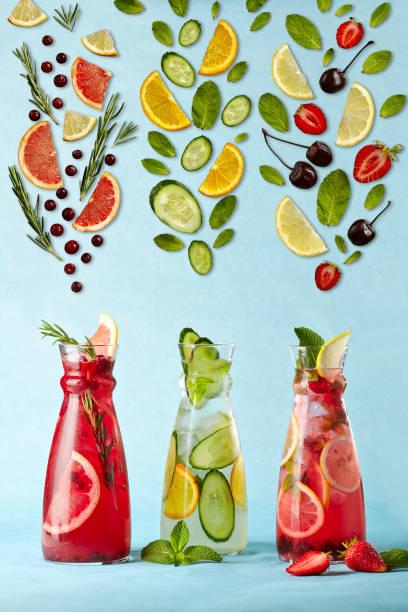 poster mit limonaden - zimt gurken stock-fotos und bilder